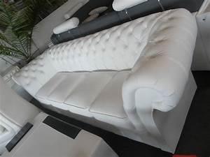 Chesterfield Sofa Weiss : chesterfield 270cm big sofa couch leder sofa 5 sitzer garnitur winchester ~ Indierocktalk.com Haus und Dekorationen