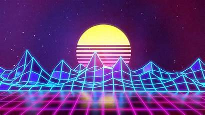 Neon Purple Backgrounds Background 80s Synthwave Render