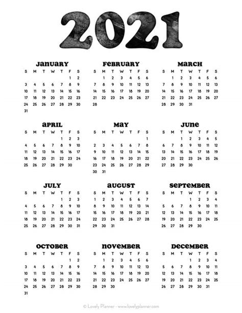 35+ Free Printable Calendar Pages 2021  Gif