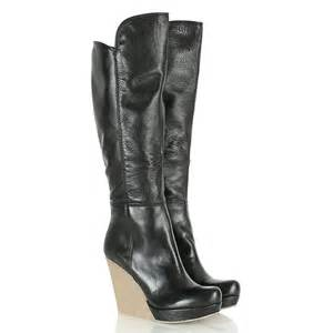 womens wedge boots uk daniel black wisdom womens knee high wedge boot