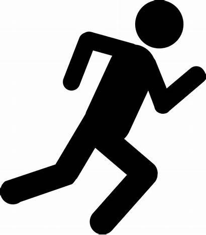 Icon Svg Stick Running Figure
