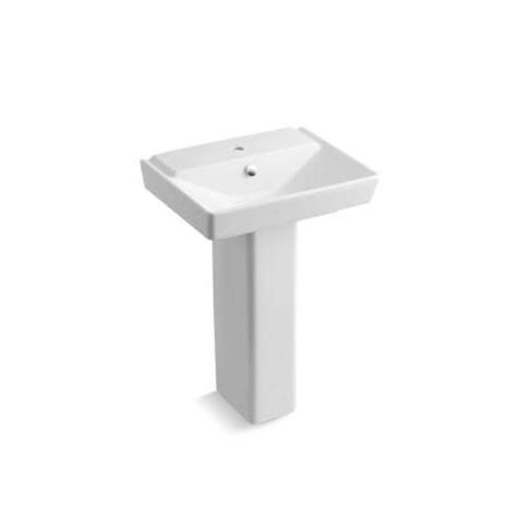 Kohler Reve Pedestal Sink kohler reve single pedestal bathroom sink combo in