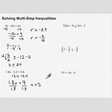Solving Multistep Inequalities Youtube