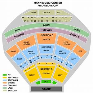 E911  Mann Music Center Seating Chart
