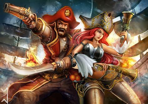 Miss Fortune, Gangplank, League Of Legends Wallpapers Hd