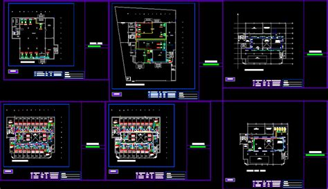hotel air conditioning ductwork dwg plan  autocad