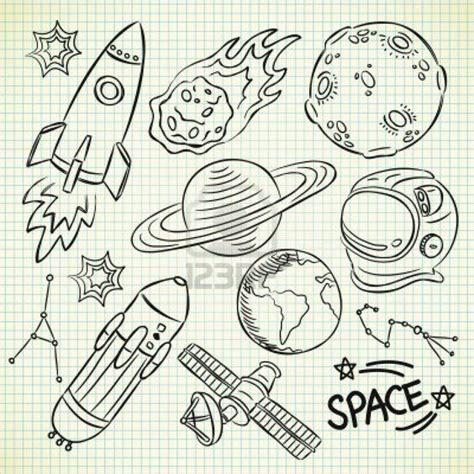 Space Doodle Set Stock Photo  Art & Doodles Pinterest