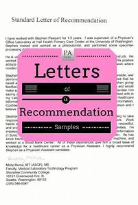 Physician istant  Application Remendation Letter Sample The Physician istant Life
