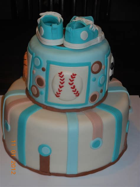 baby shower cake boy it s a of cake sports baby boy shower cake