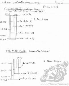 Honda Vfr400 Nc30 Vfr 400 Rr Carburetor Needle Diagrams