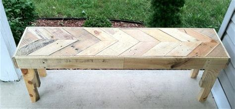 diy chevron pallet bench  pallets