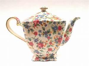 Vintage English Ascot Teapot Royal Winton Old Cottage ...