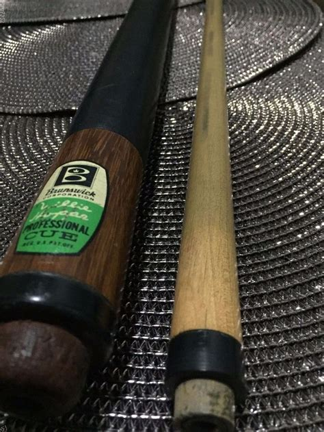 vintage brunswick willie hoppe professional pool cue
