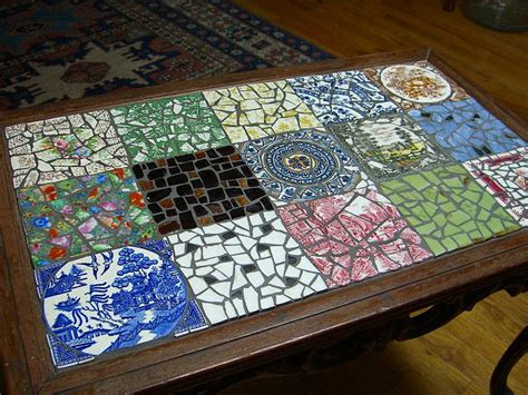 mosaic coffee table design images  pictures
