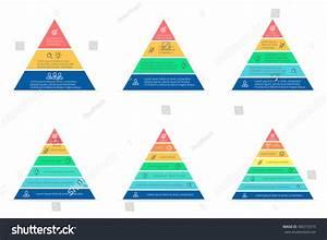 Pyramid Infographic Triangle Chart Diagram Scheme Stock