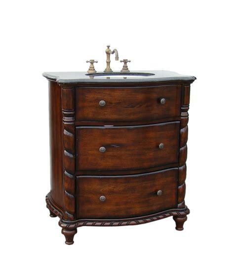 Adelina 31 Inch Antique Bathroom Vanity Brown Finish