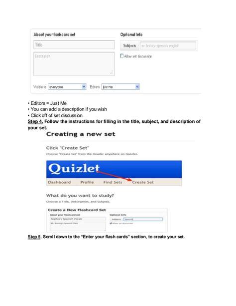 Quizlet Tutorialtemplate