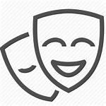 Icon Drama Iconfinder Comedy Cinema Movie Masks