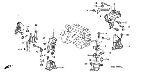 automobile air conditioning repair 2001 honda accord engine control oem 2001 honda accord coupe engine mount mt 98 02 parts hondapartsonline net