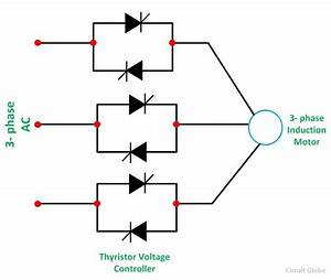 stator voltage control of an induction motor circuit globe With single phase wiring 3 phase wiring induction motor dimensions variable