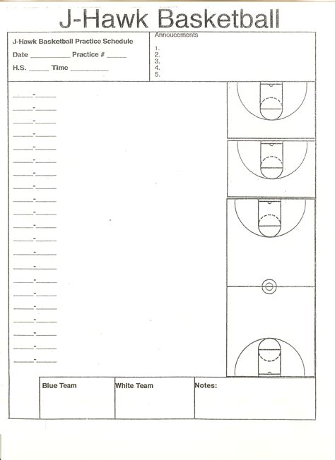 basketball practice planner template 7 best images of basketball court diagrams for plays practice plan template basketball court