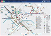 Tramlink network map of Cracow, Poland [1500x1058] : MapPorn