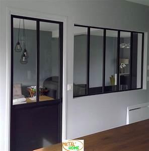 METAL39HOME Verrire D39intrieur Et Portes Style Verrire