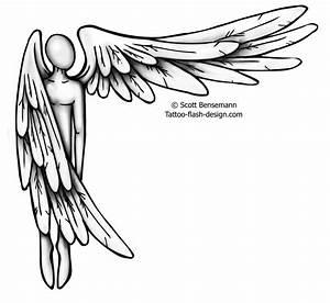 Simple Angel Wings Drawings   Free download best Simple ...