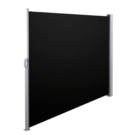 retractable side awning black