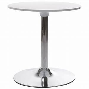 Table Ronde Plastique : table ronde mars en m tal et abs mat re plastique r sistante blanc ~ Teatrodelosmanantiales.com Idées de Décoration