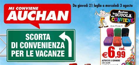 volantino auchan quot scorta di convenienza per le vacanze