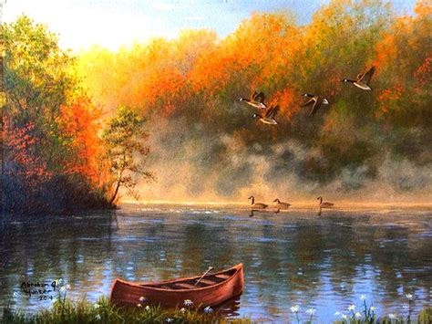 Bc Fire Boat by Autumn Fall Landscape Nature Tree Forest Leaf Leaves