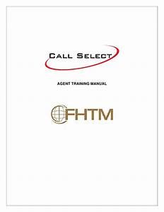Agent Training Manual Fhtm Call Select