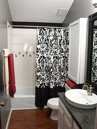 black and white bathroom decor Black and White Bathrooms | HGTV