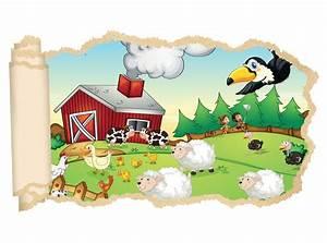 Wandtattoo Tiere Kinderzimmer : 3d wandtattoo bauernhof tiere kinderzimmer schaf ente ~ Watch28wear.com Haus und Dekorationen