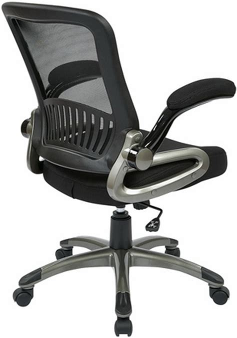 office mesh task chair with flip up arms em35207