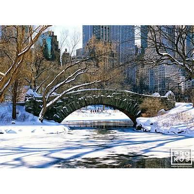 Gapstow Bridge in Winter Central Park - Fine Art Photo by