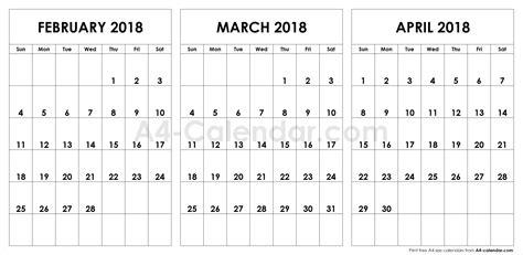 february march april calendar  qualads