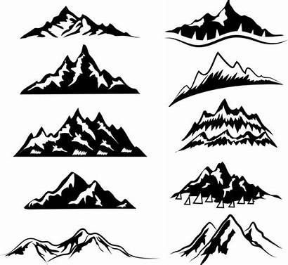 Mountain Svg Silhouette Outline Range Graphic Ranges