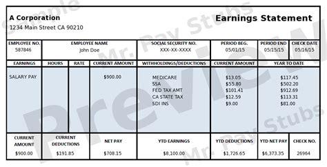 Paycheck Stubs Employment Verification Check Stubs ...