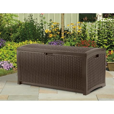 Resin Wicker Chairs Publix by Suncast Resin Wicker Deck Box Brown 73 Gallon Only 58