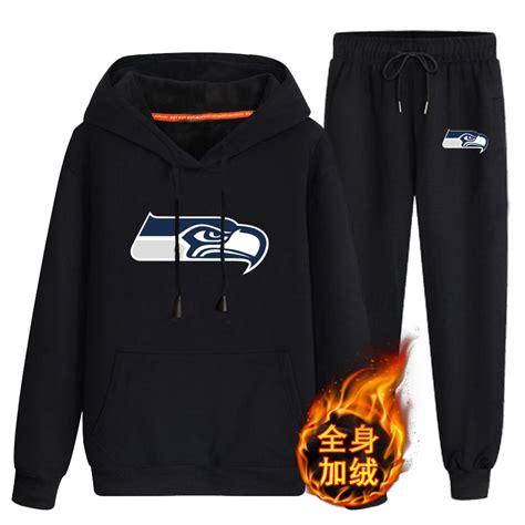 seattle seahawks black  velvet pullover hoodie pant