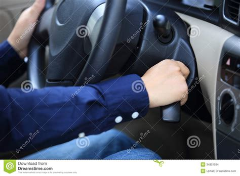 People Starting The Car Stock Images
