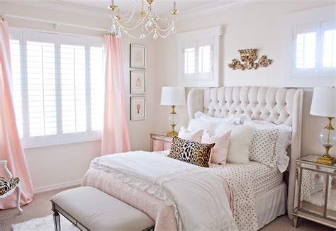 pink  gold tween bedroom randi garrett design