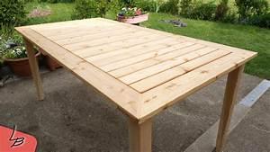 Gartentisch Selber Bauen Holz : 2 gartentisch aus massivholz l rche selber bauen so ~ Watch28wear.com Haus und Dekorationen