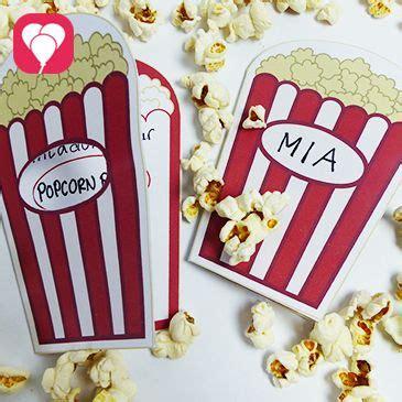 kino geburtstag mit popcorn einladung kindergeburtstag