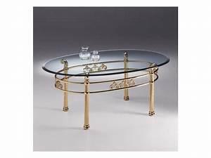 Couchtisch Oval Glas : oval couchtisch aus metall transparente glasplatte idfdesign ~ Frokenaadalensverden.com Haus und Dekorationen