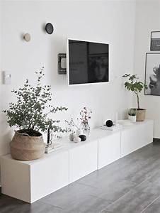 Deco Ikea Salon : d co salon ikea besta sideboard viel stauraum flachbildschirm blumen ~ Teatrodelosmanantiales.com Idées de Décoration