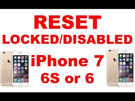 how to reset iphone 6 when locked iphone disabled forgot passcode iphone fix res