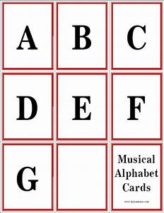 musical alphabet flashcards layton music games and resources With alphabet letter cards